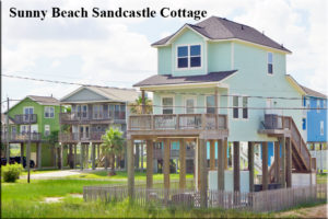 Sunny Beach Sandcastle Cottage Galveston