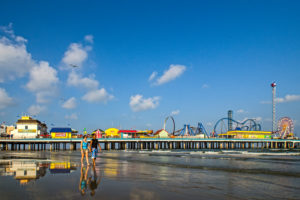 Galveston Island Historic Pleasure Pier Surfing location